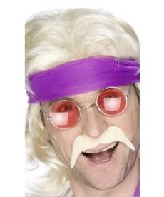 Moustache hippie blonde