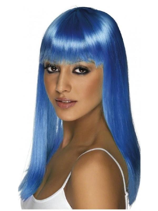 Perruque fluo bleue