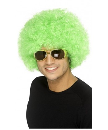 Perruque disco Verte Homme