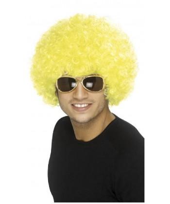 Afro jaune Homme