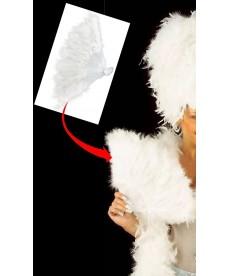 Eventail en marabout blanc