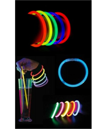 15 bracelets lumineux