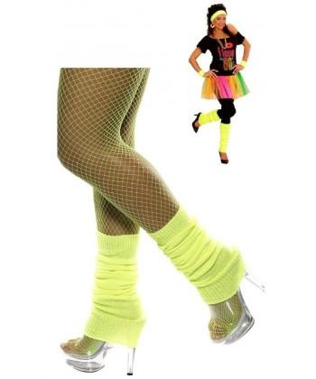Chaussettes de danse jaune fluo