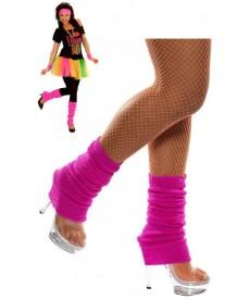 Chaussettes de danse rose fluo