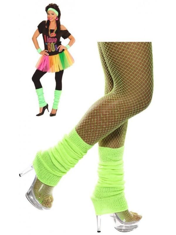 Chaussettes de danse verte fluo