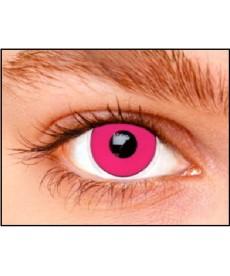 Lentilles yeux rose