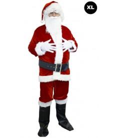 Costume de Père Noël velours