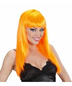Perruque fluo orange