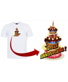 Tshirt joyeux anniversaire