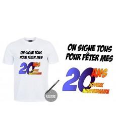 """Tshirt 20ans"""""""