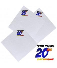Serviettes 20ans