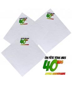 serviettes 40ans