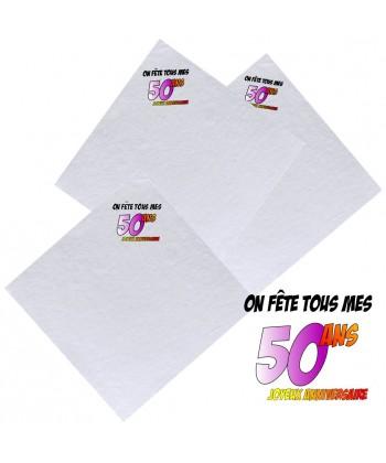 serviettes 50ans