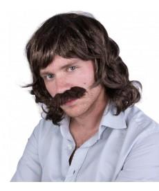perruque homme années 80