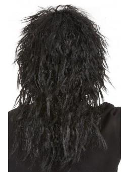 Perruque hard rockeur noire
