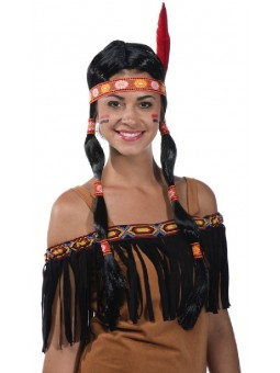 Perruque d'indienne avec tresses