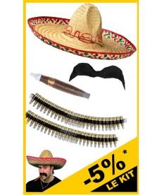 Kit de déguisement de mexicain