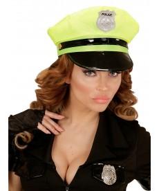 Casquette femme flic jaune