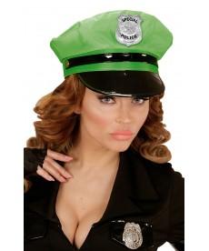 Casquette femme flic verte