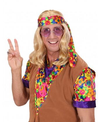 Perruque hippie blonde pas cher