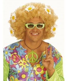 Perruque hippie fleurs