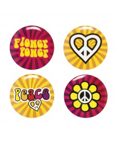Badge hippie