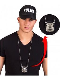collier badge policier