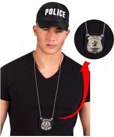collier badge policier