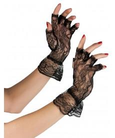 Gants noirs en dentelle