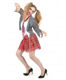 Déguisement halloween écolière zombie