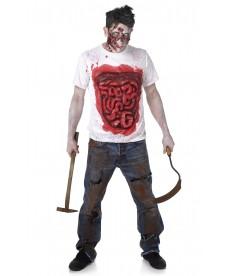 Tee shirt halloween avec boyaux