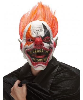 Masque latex clown méchant