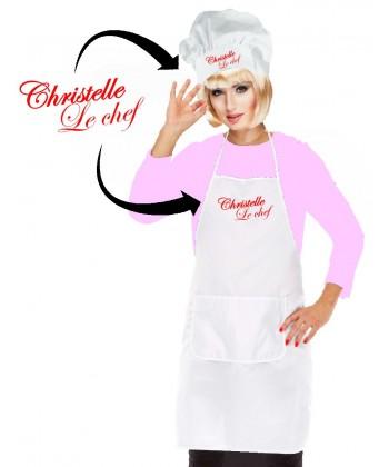 Set de cuisinière personnalisé Femme