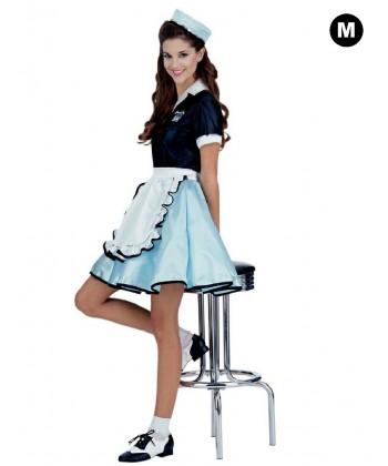 Déguisement Pop girly 50's bleu