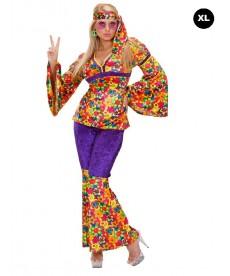 Déguisement de femme hippie (XL)