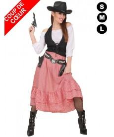 Déguisement de femme cowboy
