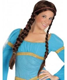 perruque médiéval femme