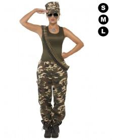 Déguisement militaire Femme - Section GI