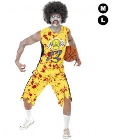 Déguisement halloween basketeur zombie