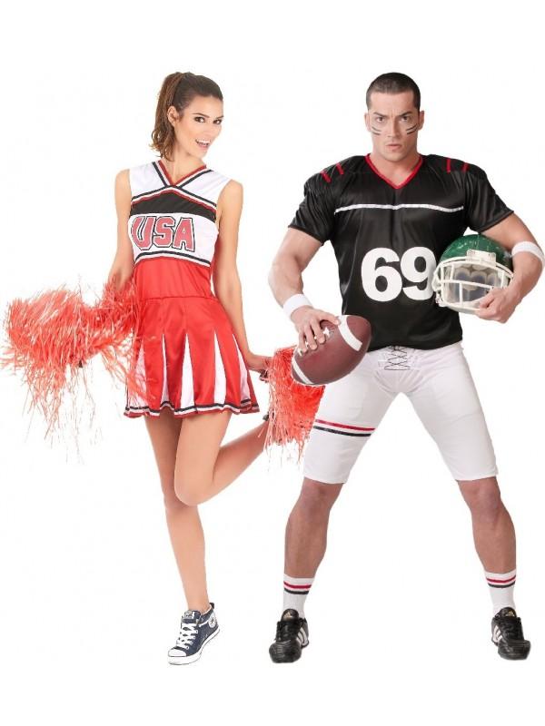 Couple footballeur et pompom girl USA