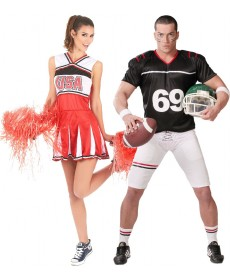 Couple footballeur et pompom girl USA