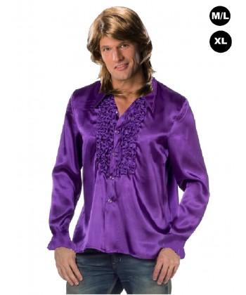 """Déguisement """"Chemise Disco violette"""""""
