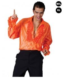 """Déguisement """"Chemise Disco orange"""""""