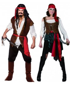 Déguisement couple de PIRATE