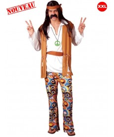 Déguisement de hippie grande taille