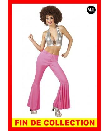 Déguisement Disco pantalon pattes deph rose