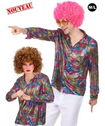 chemise disco homme femme