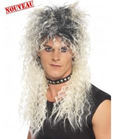 Perruque rockeur années 80 90