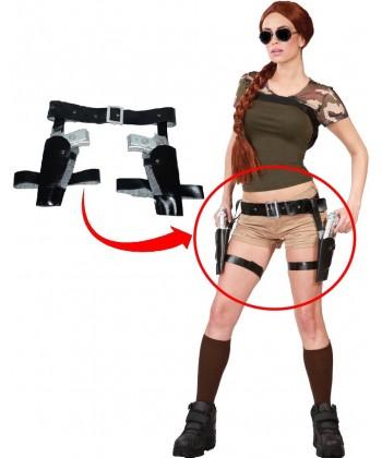 Déguisement de Lara Croft - La ceinture et les pistolets