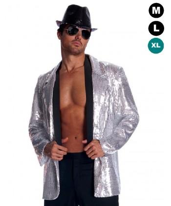 Déguisement Disco - Veste argent